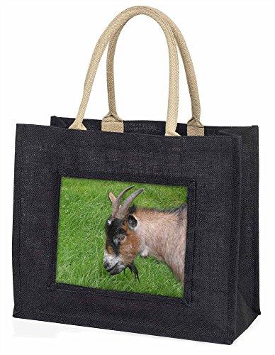 Advanta, große Einkaufstasche Freche Ziege Große Einkaufstasche Weihnachtsgeschenk Idee, Jute, schwarz, 42x 34,5x 2cm