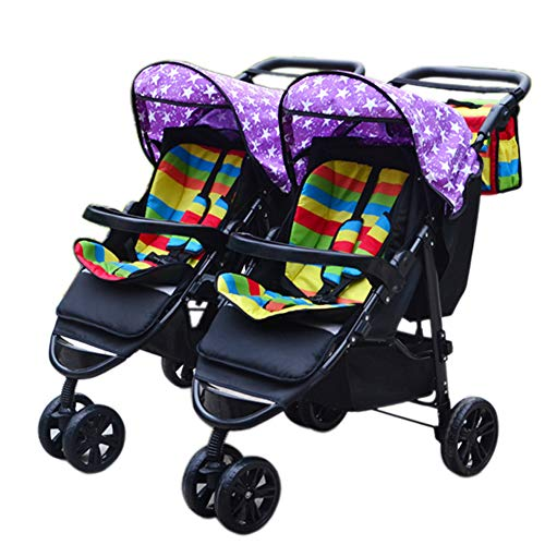 Twin Portable Baby Stroller Contours Curve Tandem Double Stroller, Toddlers Or Twins – 360° Turning, Multiple Seating Options,H