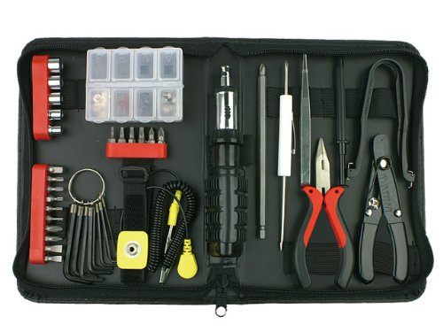 Rosewill Tool Kit RTK-045 Computer Tool Kits for Network & PC Repair Kits with Plier Hex Key Bits ESD Strap Phillips Screwdriver Bits & Socket - Pc Repair Tool Kit