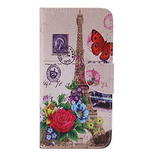 Galaxy S7 Edge Leather Case , MATOP Samsung Galaxy S7 Edge Elephant Dandelion Leather Wallet Flip Luxury PU Protective Case Cover with Card Slots For Samsung Galaxy S7 Edge (Eiffel Tower) - Edge Response Card