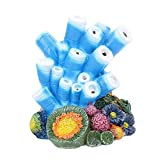 buy Aquarium Decor Air Bubble Stone Blue Coral Starfish Oxygen Pump Resin Crafts Aquarium Fish Tank Ornament Decoration now, new 2019-2018 bestseller, review and Photo, best price $16.99
