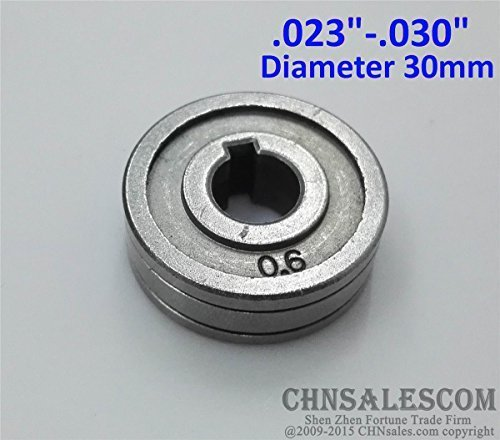 CHNsalescom 0.6-0.8 V-Groove Mig Welder Wire Feed Drive Roller Roll Parts .023'-.030'