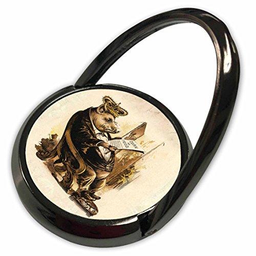 3dRose Florene Humor - Victorian Pig n His Corn - Phone Ring (phr_61977_1)