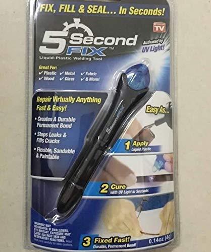 (Maslin 1 pcs 5 Second Fix UV Light Repair Tool with Glue Super Powered Liquid Plastic Welding Compound)