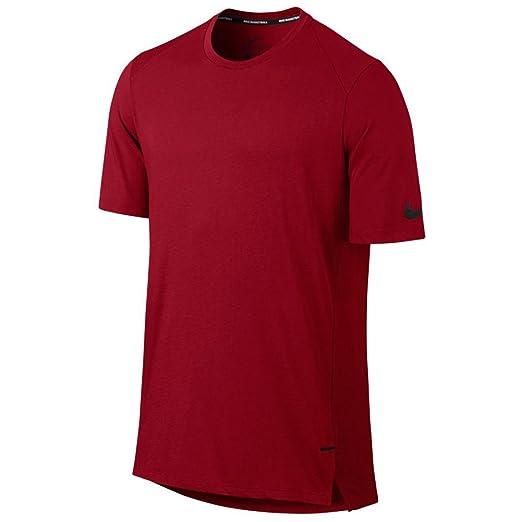 ce7312b4419c Amazon.com  Nike New Men s Breathe Elite Basketball Top Track Red ...