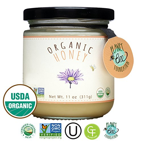 Greenbow Organic Honey   100  Usda Certified Organic  Gluten Free  Non Gmo Organic Honey   Highest Quality Whole Food Organic Honey   11Oz  311G