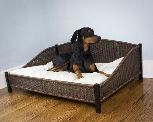 Decorative Rhino-Wicker Pet Bed – Large (47″ x 34″ x 18″), My Pet Supplies