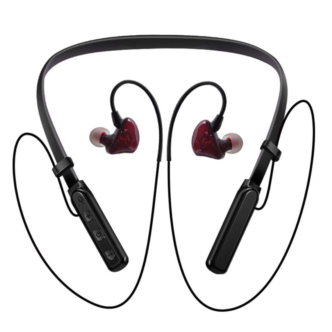 e5f566d911c Amazon.com: Aobiny Neckband Headset,Bluetooth Headphones Wireless Sports  Earphones Neckband Headset with Mic for iPhone (Blue): Sports & Outdoors