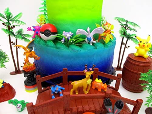 Amazon.com: Pikachu and Friends - Juego de decoración para ...