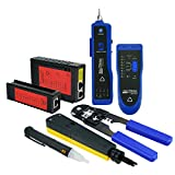 Network Cable Testing Diagnostic Tool Kit Set- Ethernet LAN Cable Tester Wire Tracker Voltage Detector Punch Tool RJ45 RJ11