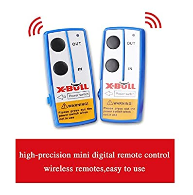 X-BULL Recovery Wireless Winch 2 Remote Control Kit Handset Switch Car Jeep ATV SUV 12V