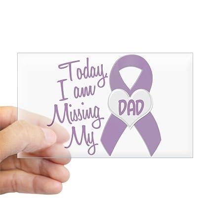 amazon com cafepress missing my dad 1 purple rectangle sticker