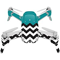 Skin For Yuneec Breeze 4K Drone – Teal Chevron | MightySkins Protective, Durable, and Unique Vinyl Decal wrap cover | Easy To Apply, Remove, and Change Styles | Made in the USA