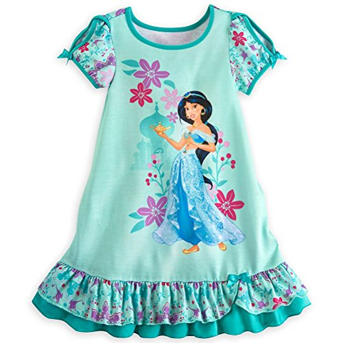 Disney Store Princess Jasmine Little Girl Short Sleeve Nightgown Pajama Size 5/6]()