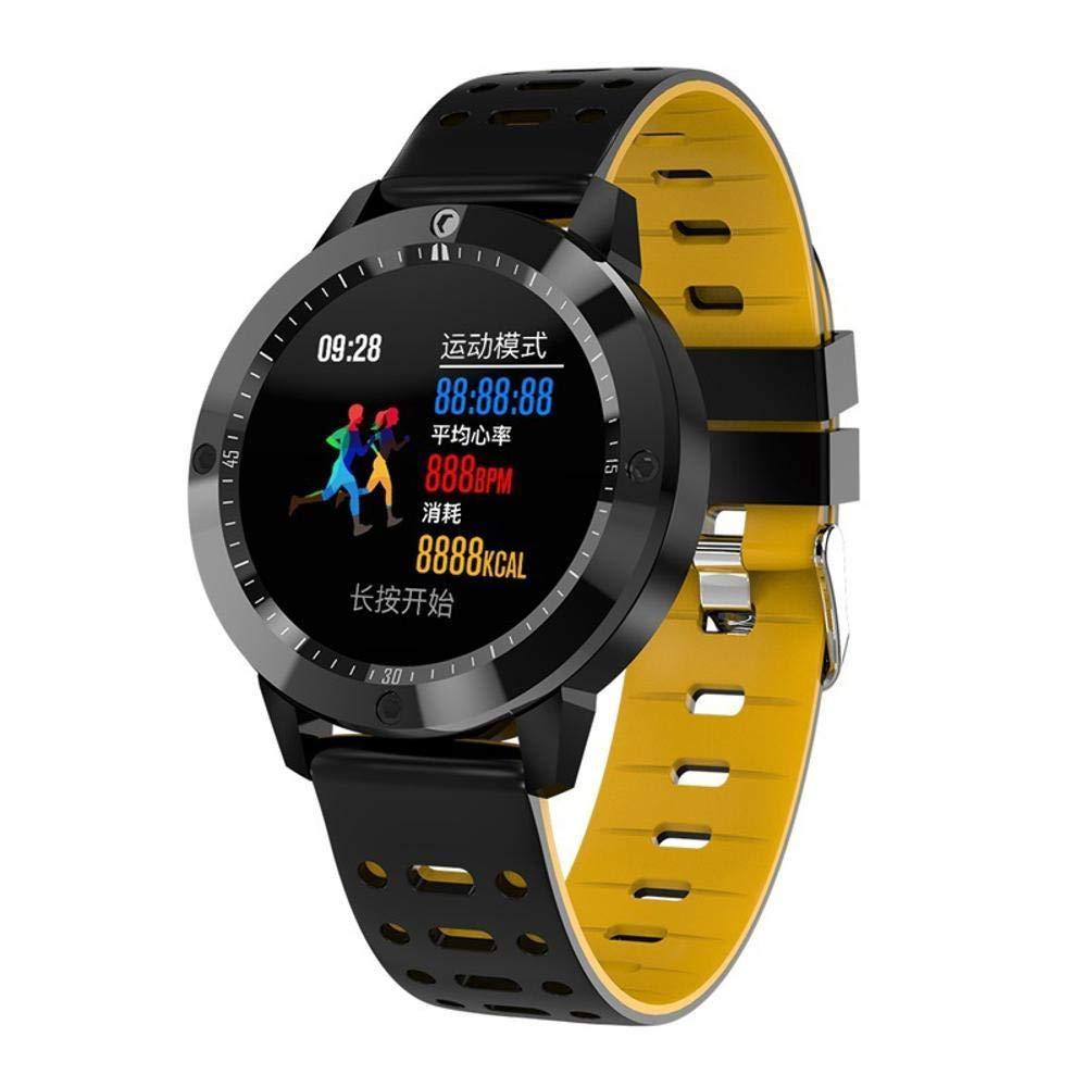 Ambiguity Fitness-Armband,Runde HD Farbe Smart-Armband Multi-Sport-Modus Herzfrequenz Blut Sauerstoff Gesundheitsüberwachung Armband