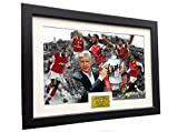 Arsene Wenger''CELEBRATION'' 12x8 A4 Signed Arsenal - Thierry Henry- Patrick Vieira- Dennis Bergkamp- Ian Wright - Theo Walcott - Autographed Photo Photograph Picture Frame Soccer Gift