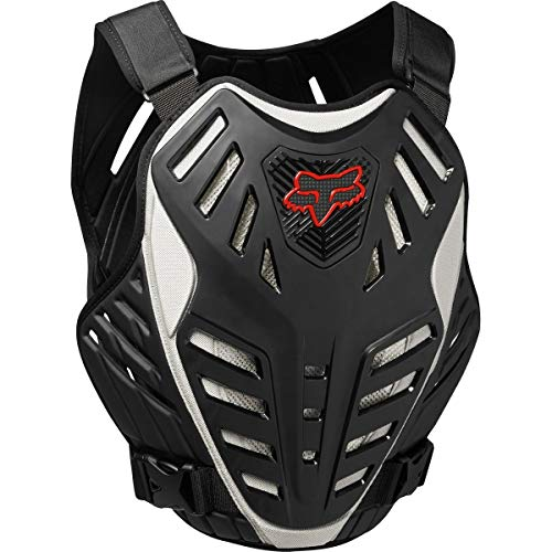 FOX RACING 2018 TITAN RACE SUBFRAME CE Black/Silver LARGE/X-LARGE MX OFFROAD ADULT MEN'S PROTECTIVE GEAR ()