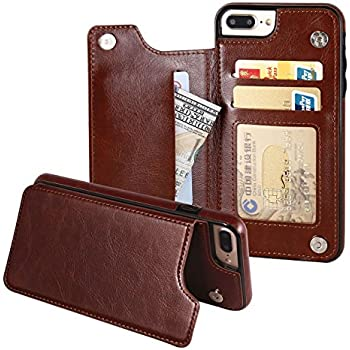 iphone 7 plus leather case card holder