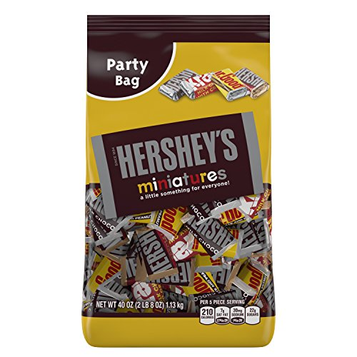 HERSHEY'S Miniatures Assortment (HERSHEY'S Milk Chocolate Bars / KRACKEL Milk Chocolate Bars / HERSHEY'S Special Dark Mildly Sweet Chocolate Bars / MR. GOODBAR Milk Chocolate Bars), 40 Ounce Bag