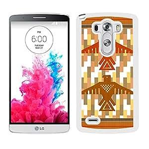 Funda carcasa para LG G3 diseño estampado indio totem borde blanco