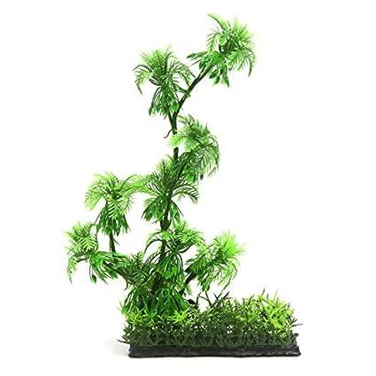 Amazon.com: eDealMax 1 PC acuario Playa Artificial de decoración del árbol de Coco de Betta Fish Tank 15x5x29cm: Pet Supplies