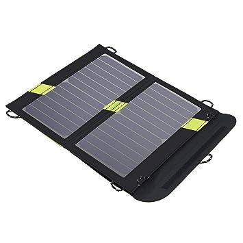 KANGLE Cargador Solar 14W 2 Puertos USB Exterior del ...