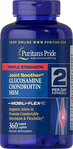Puritans Pride Triple Strength Glucosamine, Chondroitin & Msm Joint Soother, 360 Count