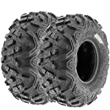 SunF 145 70-6 145 70x6 ATV UTV A T Mud Replacement 6 PR Tubeless Tires A051 POWER II - [Set of 2]