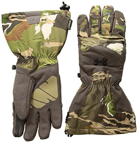 Under Armour Men's Scent Control Insulator 2.0 GORE-TEX Gloves, Ridge Reaper Camo Forest (943)/Black, Large