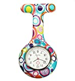 Boolavard® TM Nurses Fashion Coloured Patterned Silicon Rubber Fob Watches - Colourful Bubbles