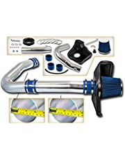 Cold Air Intake System with Heat Shield Kit + Filter Combo BLUE Compatible For 11-21 Challenger/Charger/Chrysler 11-21 300/14-15 300C 3.6L V6