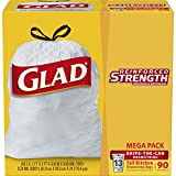 #6: Glad Tall Kitchen Drawstring Trash Bag - 13 Gallon - 90 Count