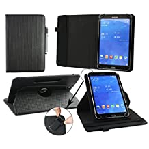 Emartbuy® Hipstreet 10.1 Inch Phoenix Tablet Universal ( 9 - 10 Inch ) Padded Design Black 360 Degree Rotating Stand Folio Wallet Case Cover + Black Stylus