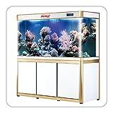 100 gallon glass tank - 100 Gallon Glass Fish Tank Aquarium with LED Light and Stand Bundle