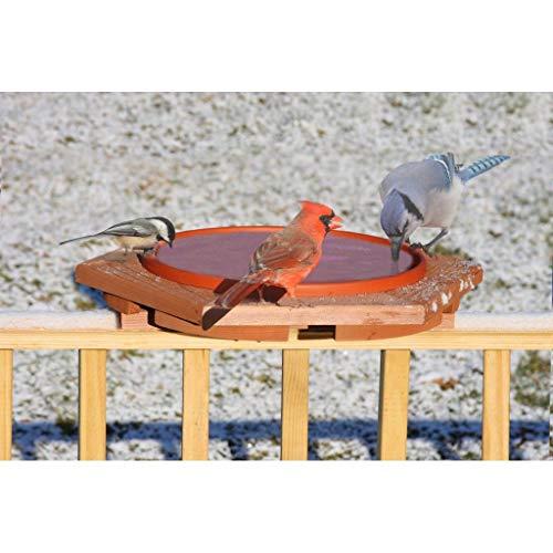 Songbird Essentials SE501 Cedar Heated Deck Bird Bath (Set of 1)