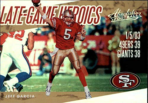 2018 Absolute Late Game Heroics #1 Jeff Garcia 49ers