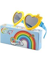 Soft Rubber Kids Cute Heart Polarized Sunglasses UV400...