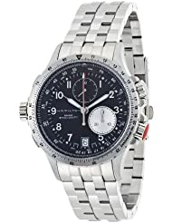 Hamilton Mens H77612133 Khaki ETO Black Chronograph Dial Watch