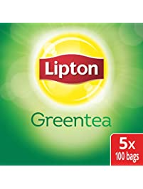 Lipton Green Enveloped Hot Tea Bags 100% Natural, Made with Tea Leaves Sourced from Rainforest Alliance Certified Farms...