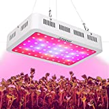 JUHANG 600w Double Chips Led Grow Light Full Spectrum, Hydroponic Plant Flowering Grow Light for Greenhouse and Indoor Plant Flowering Growing