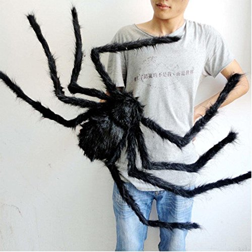 Shalleen 125 cm Black Spider Halloween Decoration Haunted House Prop Indoor Outdoor Wide (Girls Superhero Costumes Next Day Delivery)