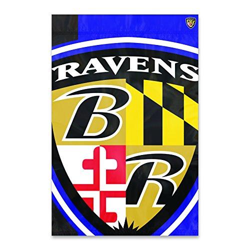 Party Animal Baltimore Ravens Bold Logo Banner NFL Flag