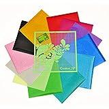 "Iron On Glitter Vinyl – 12 Heat Transfer Sheets 12x10"" for T Shirts + BONUS 1 Cutting Mat – HTV Bundle for Silhouette Cameo & Cricut"
