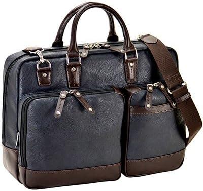 平野鞄 ビジネスバッグ ショルダーバッグ メンズ ブリーフケース B4 A4 2way ショルダー付き 出張 通勤 横幅40cm 黒 紺 ブラック ネイビー +オリジナル高級ムートングローブ