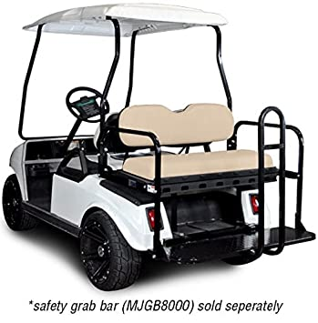 Madjax 01-004 Genesis 150 Rear Flip Seat Kit for 2001.5-Up Club Car DS Golf Carts Buff Cushions