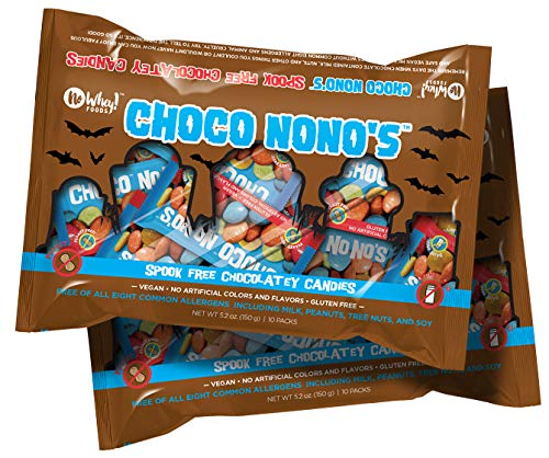 Vegan Halloween Candy (No Whey Foods - Spook Free Choco No No's (2 Pack) - Allergy Friendly and Vegan Chocolate Halloween Candy - Dairy Free, Nut Free, Peanut Free, Gluten)