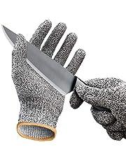 Aituo 1 paar snijbestendige handschoenen Veiligheidsbescherming EN388 Snijbescherming van niveau 5, anti-slash keuken of industrie Snij veilige werkhandschoenen