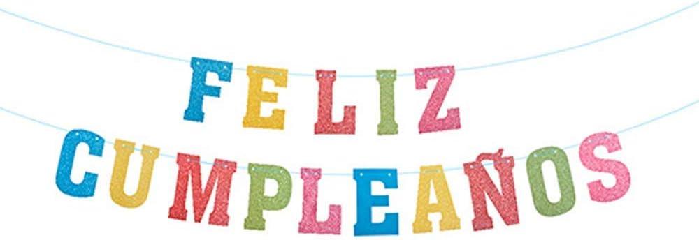 Unishop Guirnalda de Banderines de Cumpleaños Decoración Bandera Feliz Cumpleaños para Fiesta de Cumpleaños Pancarta de Feliz Cumpleaños Multicolor