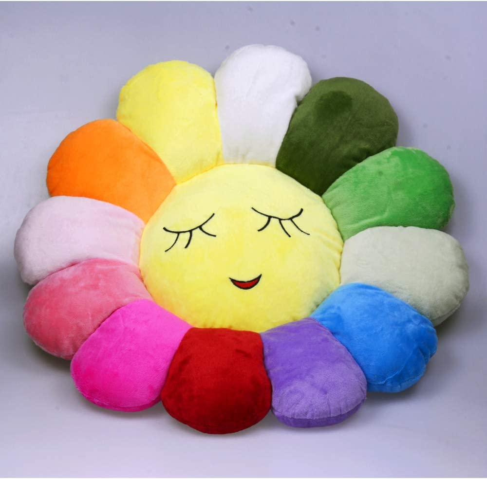 Poitemsis 20inch Sun Flower Floor Pillow Kids Soft Seating Floor Cushion Chair Sofa Pads For Girls Room /& Baby Nursery Home Decoration