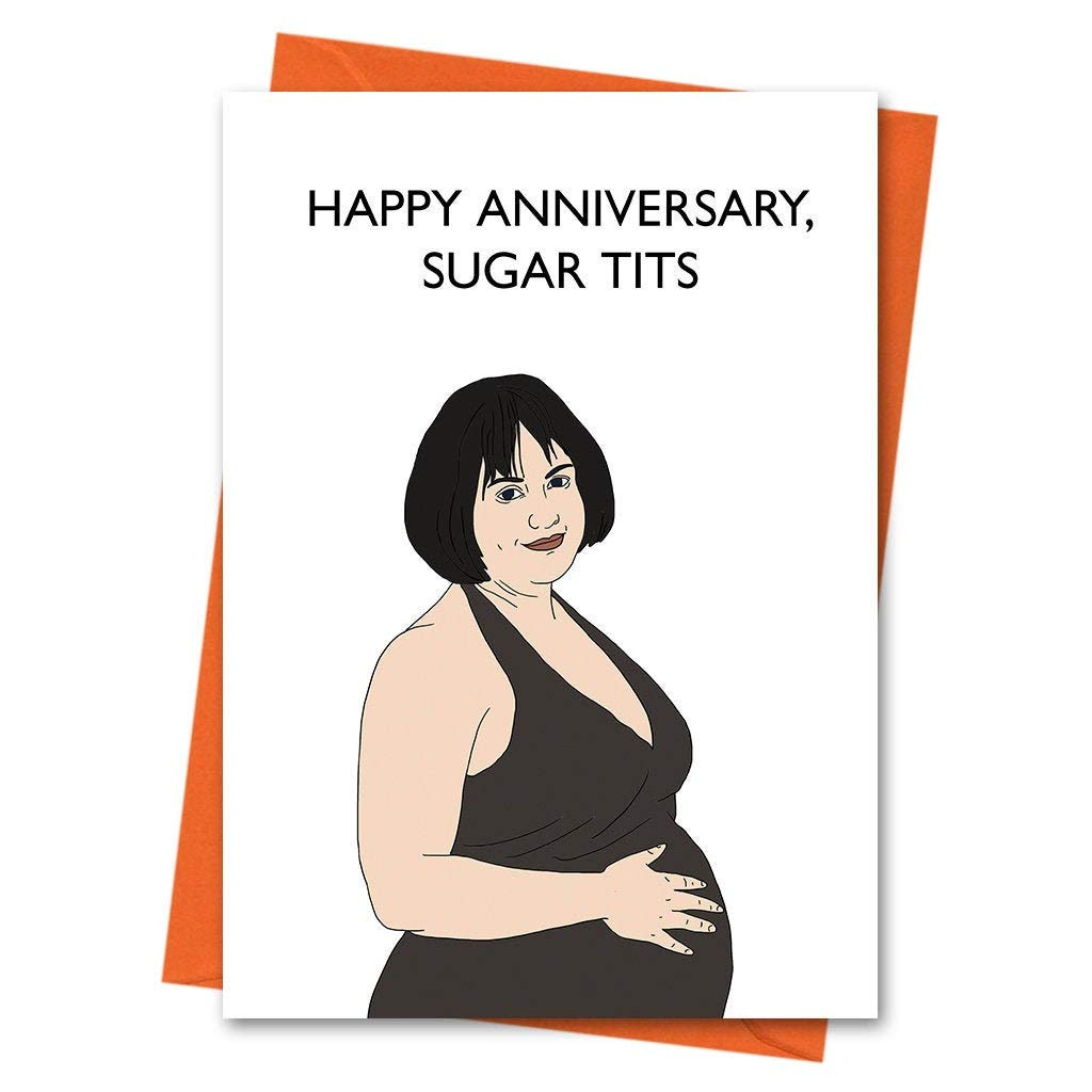 Happy Birthday Sugar Tits Greeting Card Gavin and Stacey Birthday Card Funny Birthday Card Nessa Card Stacey Card
